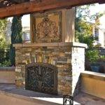 Stone Outdoor Fireplace San Diego Landscape