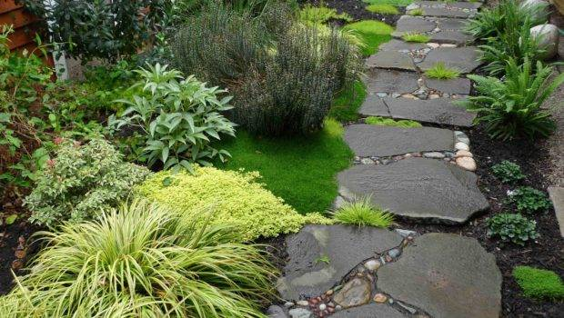 Stone Path Has Gaps Creating Stepping Stones Increasing