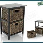 Storage Unit Bedside Table Drawer Havana Dark Trade