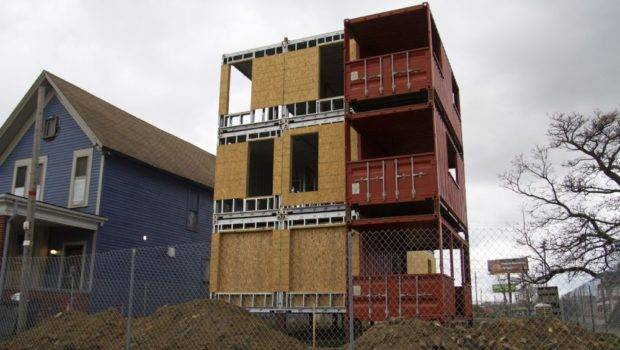 Story Shipping Container Model Under Construction Trumbull