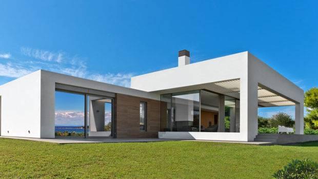 Stunning White Modern Home Greek Island Decor