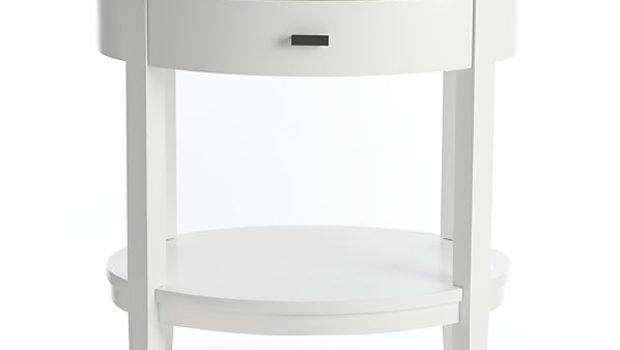 Stylish Small White Nightstand Badotcom