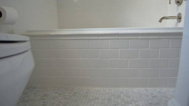 Subway Tile Tub Transitional Bathroom One Story Building
