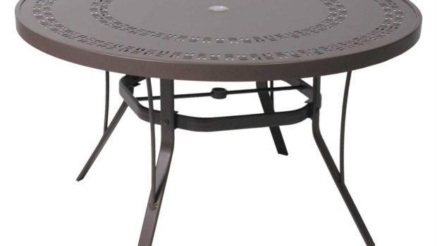 Suncoast Patterned Square Aluminum Round Metal Coffee