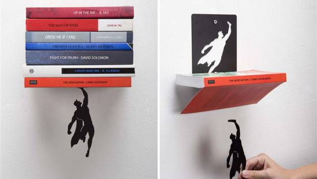 Super Hero Bookend Keeps Your Books Falling Down