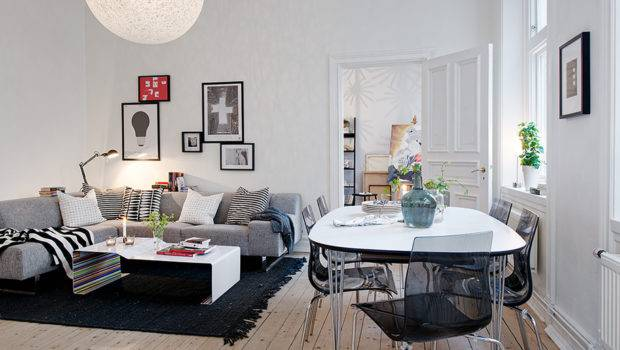 Swedish Apartment Boasts Exciting Mix Old New