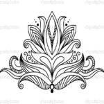 Symmetrical Floral Design Elemen