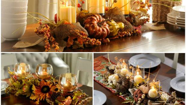 Table Decorating Fall Centerpieces