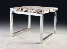 Tables Dining Cheese Stone Table Stainless Steel Base