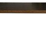 Tables Dining Dark Elm Stainless Steel Table
