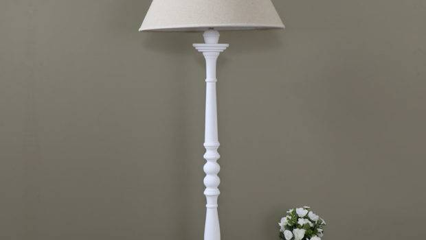 Tall White Table Lamp Shade Melody Maison