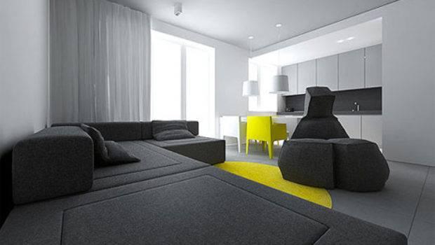 Tamizo Architects Contemporary Small Flat Interior