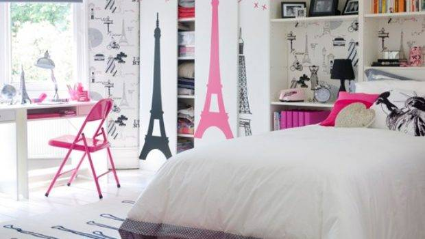 Teen Girl Bedroom Design Paris Theme