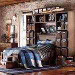 Teenage Guys Bedroom Ideas Wall Storage Pbteen