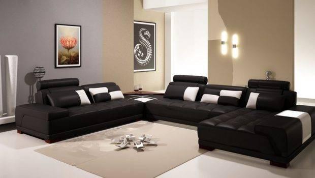 Terrific Paint Colors Make Room Look Bigger Brown Leather Sofa