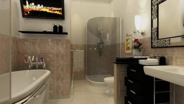 Terrific Small Luxury Bathroom Design Photograph