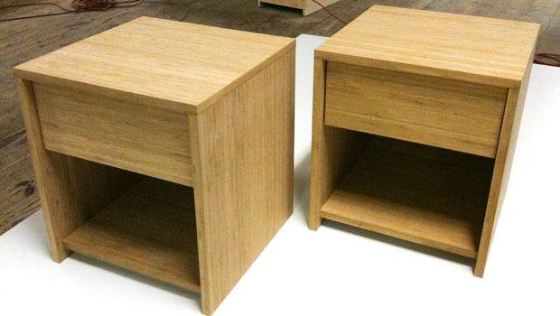 These Short Bed Side Tables Have One Drawer Fixes Shelf Below
