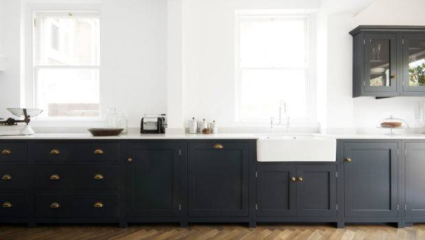 They Sit Really Well Against Dark Blue Kitchen Cabinets