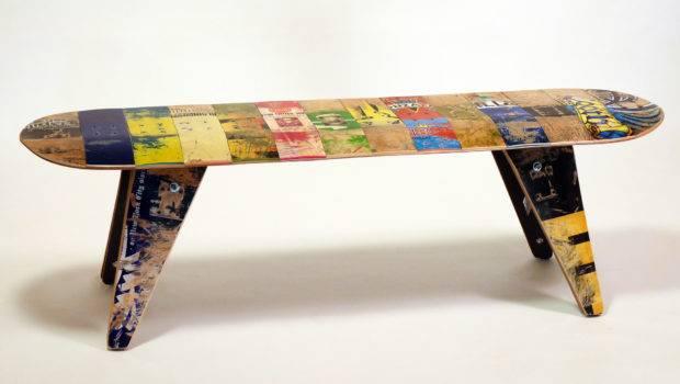 Three Seater Skateboard Bench Deckstool Furniture Madeclose
