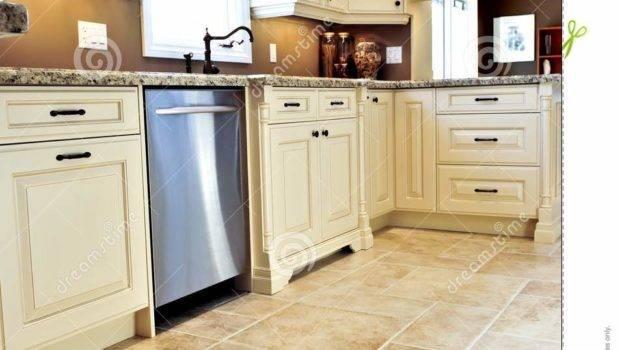 Tile Floor Modern Kitchen Indoor