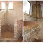 Tile Home Remodeling Shower Tumbled