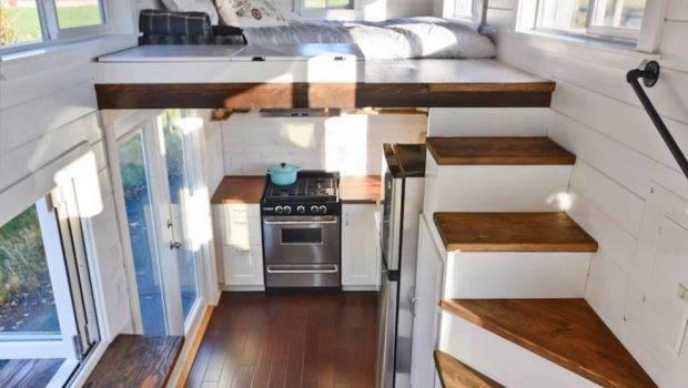 Tiny House Stair Storage Interior Mobile