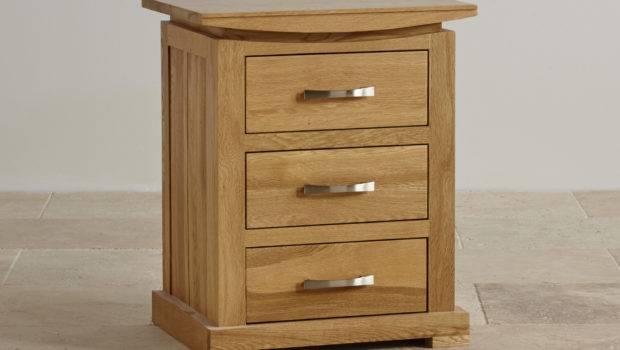 Tokyo Drawer Bedside Table Solid Oak Furniture Land