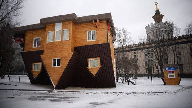 Topsy Turvy Upside Down House Attraction Comes Moscow News
