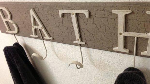 Towel Rack Created Scrap Lumber Martha Crackle Paint
