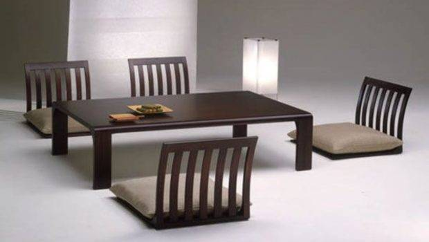 Traditional Japanese Dining Room Furniture Design Interior