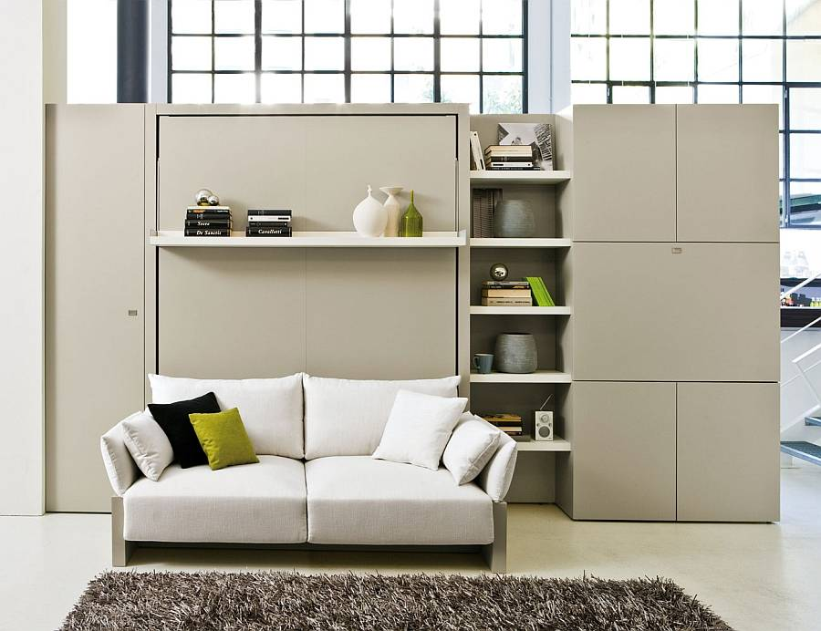 Transformable Murphy Bed Over Sofa Systems Save Ample ...
