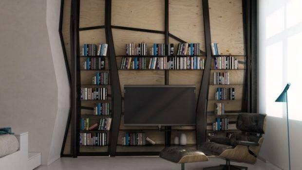 Transformer Apartment Entertainment Niche Built Into Partition