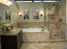 Travertine Tiles Gives Bathroom Earthy Natural Look