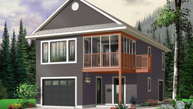 Travis One Car Apartment Garage Plan House