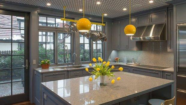 Trendy Ideas Bring Gray Yellow Kitchen