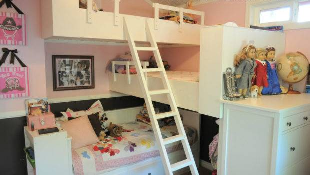 Triple Bunk Bed Tiny House Small Space