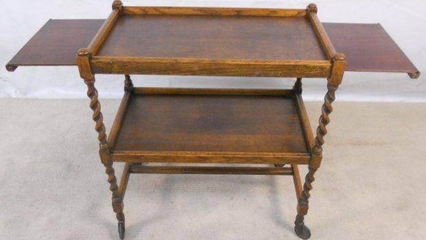 Trolley Castor Feet Moving Useful Piece Oak Furniture