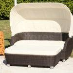 Tropez Wicker Day Bed Canopy Source Outdoor Chaise