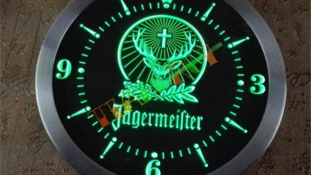 Trr Jagermeister Led Neon Sign Wall Clock