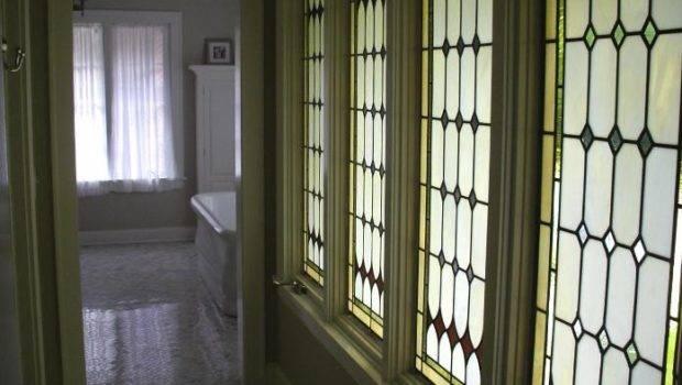 Tudor Style Casement Windows These Art Glass Panels