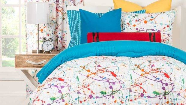 Turquoise Red Teen Bedding