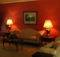Tuscan Living Room Red Painted Walls