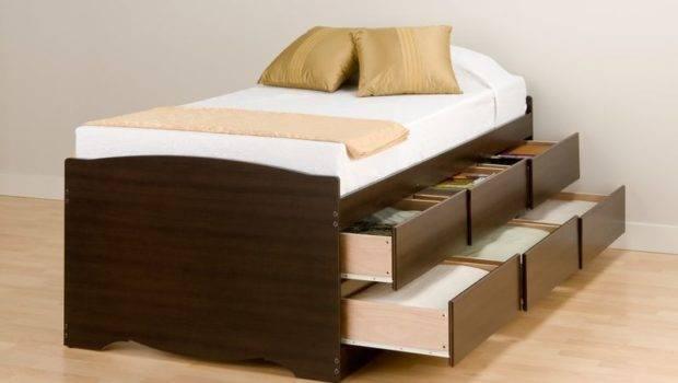 Twin Platform Beds Drawers Design Ideas Bedroom