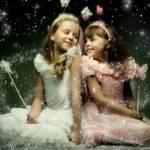 Two Beautiful Little Girl Wings