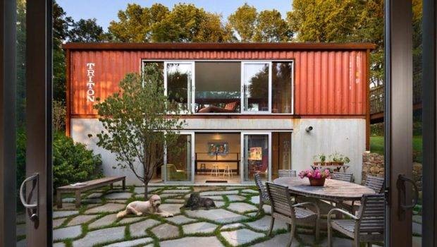 Two Story Container Home New Jersey Designed Architect Adam