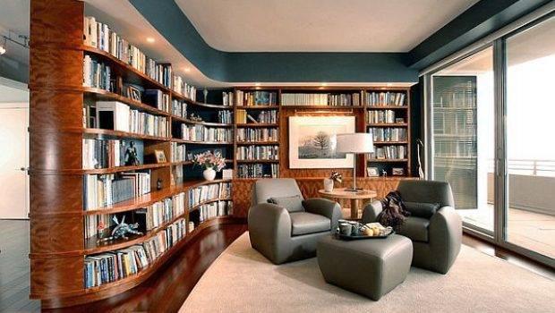 Ultra Modern Home Library Design Decoist