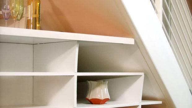 Under Stairs Shelves Home Interior Design