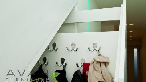 Under Stairs Storage Unit Hanging Space