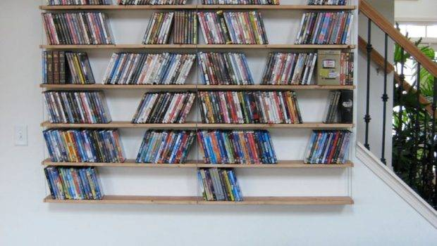 Unique Hanging Bookshelves Wall Worth Own Homesfeed