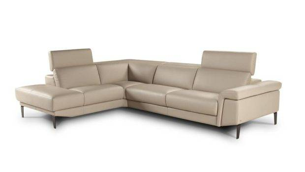 Unique Leather Corner Sectional Sofa Soft Cushions Chandler